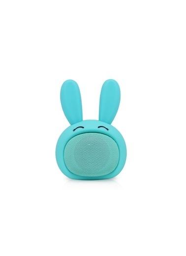iCutes Mavi Tavşan Mini Rabbit Kablosuz Bluetooth Hoparlör M815 Renkli